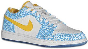 Air Jordan 1 Low White/Chlorine Blue-Sonic Yellow West Side