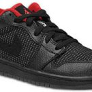 Air Jordan 1 Low Inline Black/Metallic Silver-Varsity Red