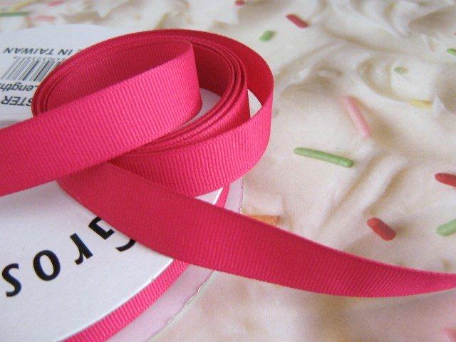 5/8 Inch Wide Pink Grosgrain Ribbon 5 Yards