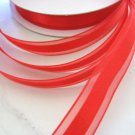 5/8 Inch Wide Red Organza Satin Center Ribbon Trim 2 yards Floral Supplies