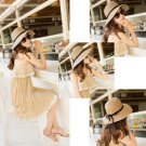 Floppy Derby Hat Wide Large Brim Summer Beach Straw Sun Hat