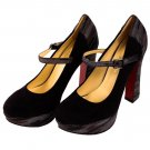 Womens Ankle Strap Fashion High Heels Chunky Platform Pumps Sexy Mary Jane Shoes Black