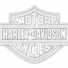 Harley Davidson Logo Cutz Rear Window Decal Motorcycle Truck Car Sticker