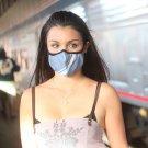 Blue Grey Stripe VOGMASK Microfiber High-Filtration Dust Mask