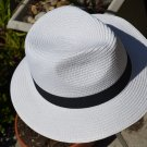 TAN / KHAKI Summer Cool Panama Wide brim Fedora Straw Made Indiana Jones Style Hat