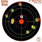 60 Pack, 6 Reactive Splatter Gun and Rifle Targets, GlowShot
