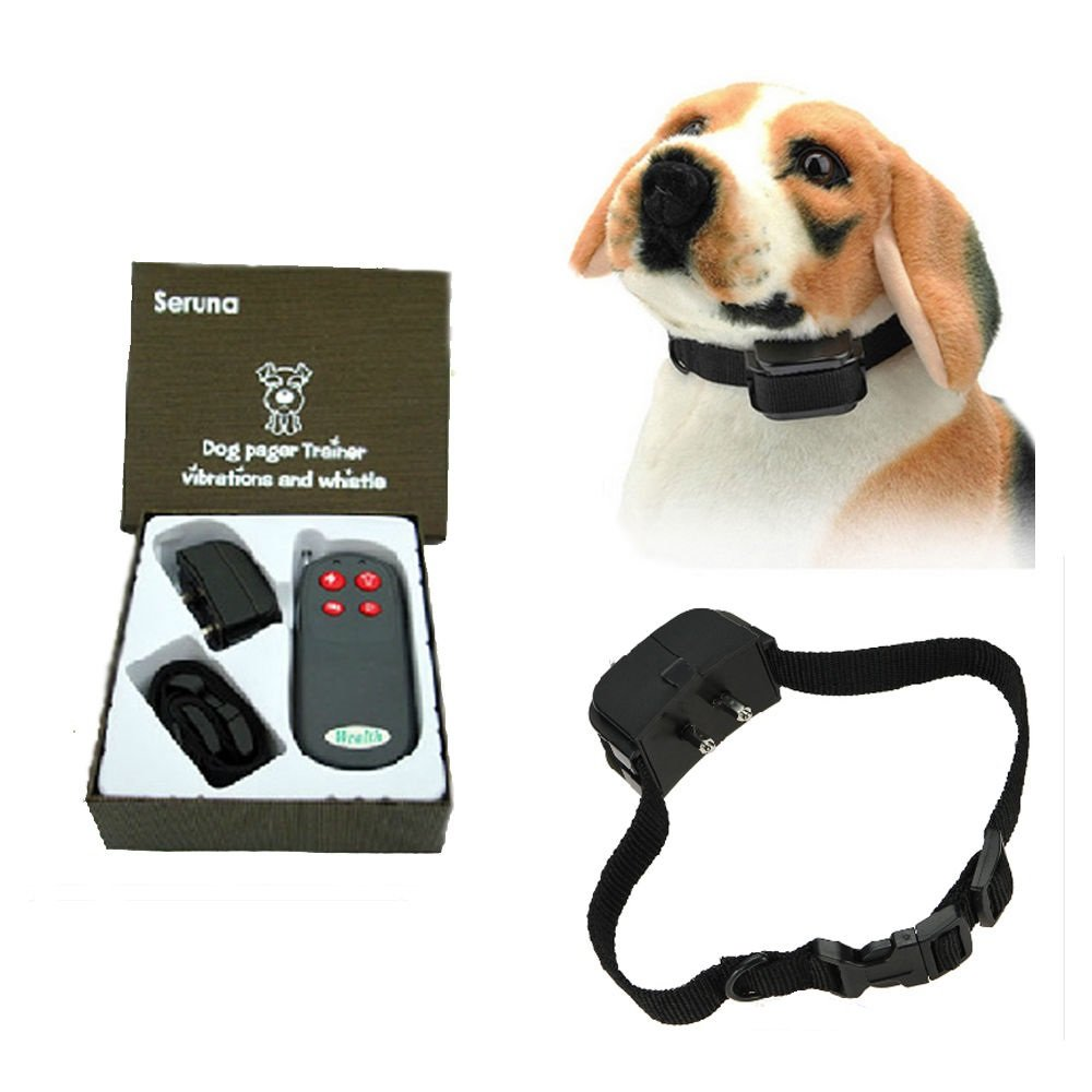 Pet Dog 4in1 Electric Remote Training No Barking Anti Bark Shock Vibrate Collar - Free Ship