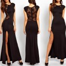 Black Sexy Lace Long Maxi Evening Formal Party Cocktail Dress Bridesmaid Prom Gown - Free ship