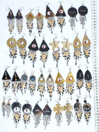 Lot 5 Pairs of Horn Earrings