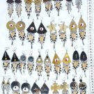 Lot 5 Pairs of Horn Earrings