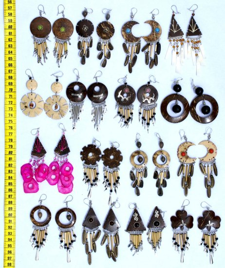 Lot 10 pairs of Seed and Coco Earrings
