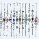 Lot 10 handmade alpaca silver bracelets w colored glass