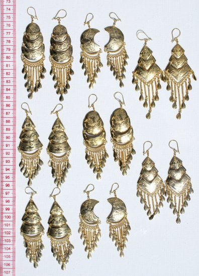 8 Pairs Handmade Earrings Peruvian Jewelry Accessories