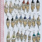 10 Pairs Artesanal Earrings Bamboo Natural Piedra Stone