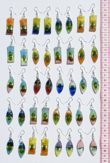 10 Pairs Dangle Handmade Earrings Glass Jewelry Art