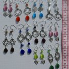 10 Pairs Fashion Dangle Drop Earrings w/ Cat-Eye Stones