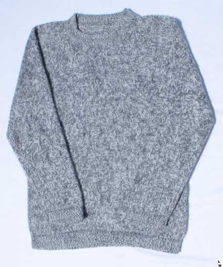 Soft Gray Color Alpaca Wool Sweater, Clothes Low Price