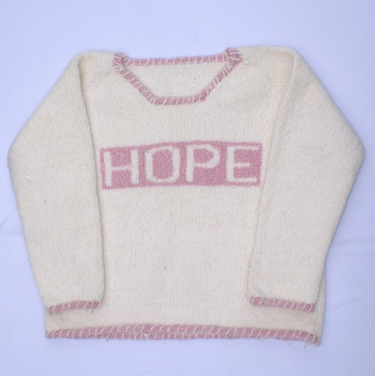 Pink Sweater F Girl Word Hope Winter Season Hot Clothes