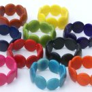 Lot 5 Color Bracelets Handmade of Tagua Corozo Palm Nut