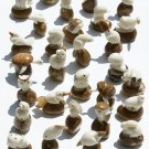 LOT OF 10 ANIMAL FIGURINES CARVING OF TAGUA NUT ECUADOR