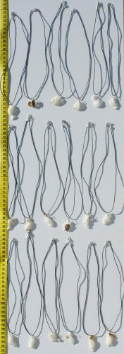 LOT 5 DIFFERENT ANIMAL NECKLACES MADE OF TAGUA