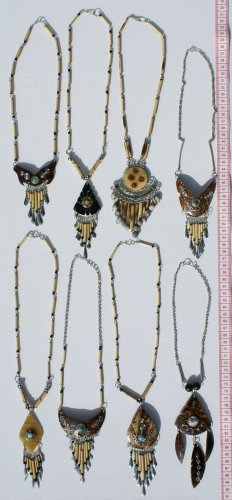 4 Necklaces Bamboo Coco Nut Natural Tribal Jewellery