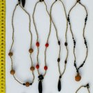 LOT 6 HAND MADE SHUAR SEED NECKLACES FROM ECUADOR