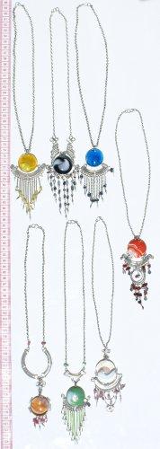 6 Alpaca Silver Murano Necklaces Wholesale Jewelries