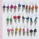 10 Pair Small Animal Design Carved Earrings Jewelry Art