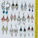 Lot 10 Pairs Handmade Dangle Drop Earrings Piedra Stone