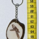 Flat Bird Tagua Key Chain Amazon Parrot, Art of Ecuador