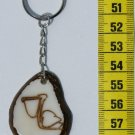 Handcrafted Pelican Water Bird Art, Tagua Nut Key Chain