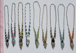 5 Handmade Necklaces Color Pearls Natural Piedra Stones