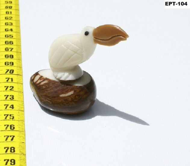 Hand Carved Art Tropical Bird Tagua Figurine Of Toucan