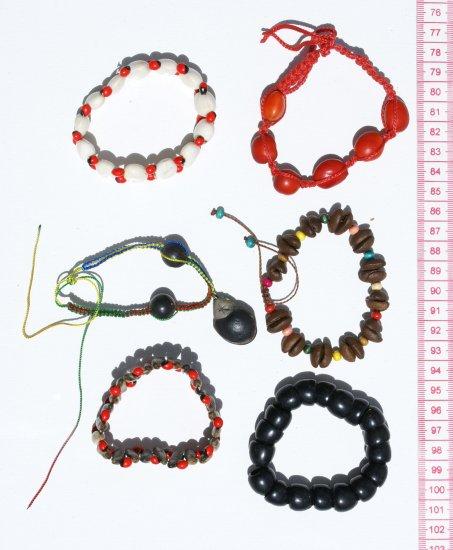 6 Bracelets Jungle Tropical Seeds Ethnic Jewelry Peru