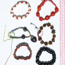 6 Bracelets Jungle Tropical Seeds Ethnic Jewelry Peru