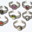 5 Cuff Bangle Bracelets Ethnic Peruvian Stones Jewelry