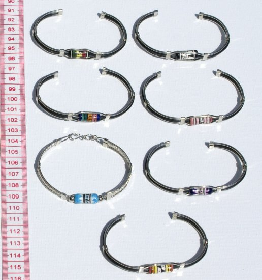 7 Cuff Bangle Metal Bracelets Handmade Peruvian Jewelry
