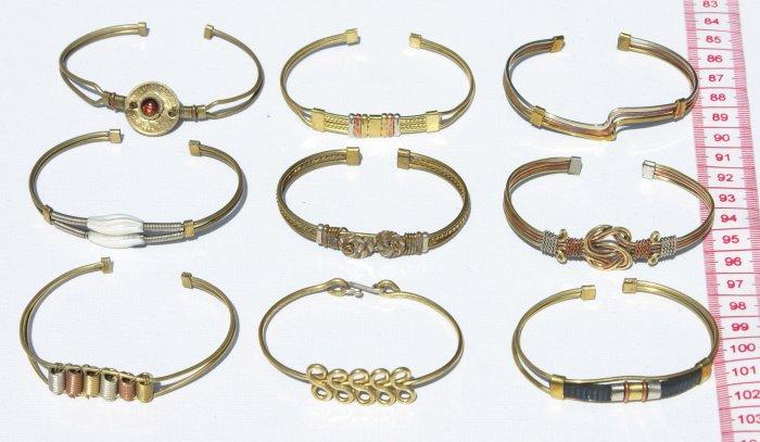 8 Cuff Bangle Yellow Bracelets American Style Jewellery