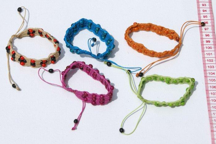 5 Hand Woven Thread Tropical Seed Bracelets Wholesale