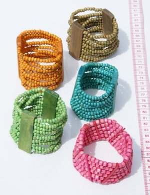 4 Bead Seed Beaded Bracelets Natural Material Peruvian