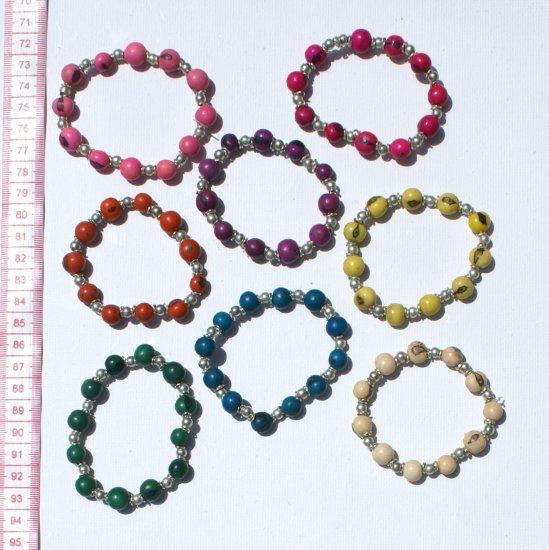 7 Seed Metal Beaded Bracelets Jewellery American Style