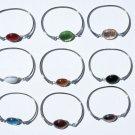 5 Metal Bracelet Cuff Bangle Round Murano Glass Beads