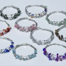 7 Handmade Charms Bracelets With Color Stones Wholesale