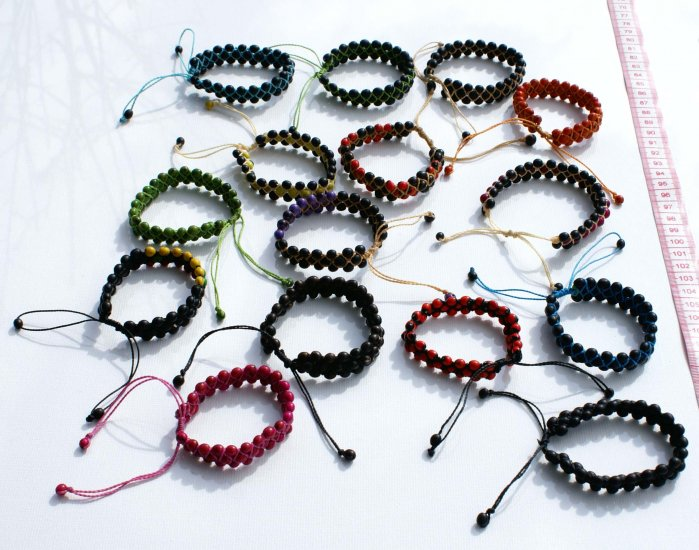 10 Color Seed Bracelets Beaded Artesanal Jewelry Peru