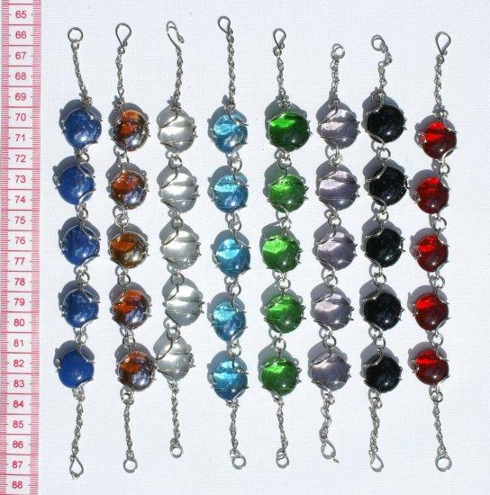 7 Hand Bracelet Round Murano Glass Bead Fashion Jewelry