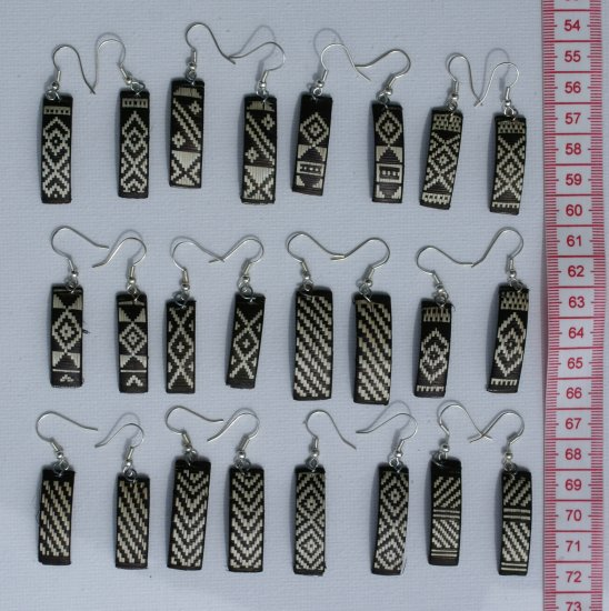 12 Pairs Earrings Peruvian Ethnic Hand Crafted Jewelry