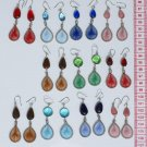 7 Pairs Dangle Earrings Murano, Peruvian Thread Jewelry