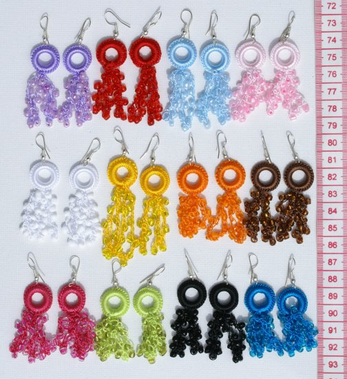 7 Pairs Color Pearls Dangle Earrings Fashion Jewelry