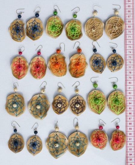 5 Pairs Earrings Hand Woven Thread Brasilian Seeds Art